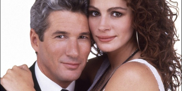 Richard Gere and Julia Roberts in the 1990 film Pretty Woman.