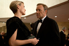 Robin Wright and Kevin Spacey in Neflix's House of Cards. Photo / Netflix