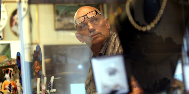 Avondale secondhand jewellery and antique dealer Rob Burgess in 2010, around the time of his arrest for receiving stolen goods. Photo / Dean Purcel