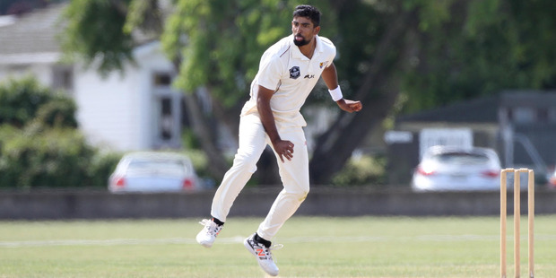 Ish Sodhi in action for Northern Districts. Photo / Hawke's Bay Today - Duncan Brown.