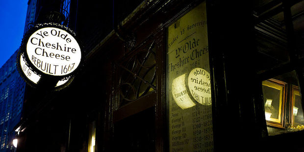 The Ye Olde Cheshire Cheese pub in Fleet Street. Photo / Getty Images