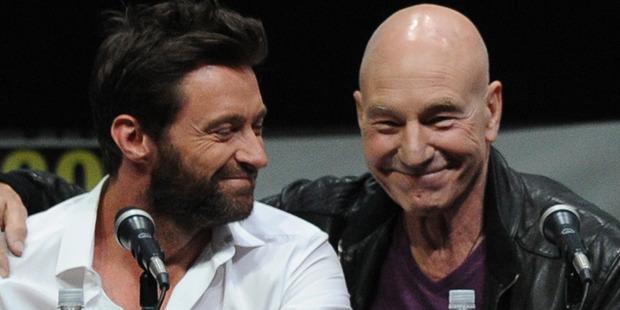 Actors Hugh Jackman and Patrick Stewart. Photo / Getty