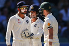 Virat Kohli of India confronts Australian captain Steve Smith of Australia. Photo/Getty Images