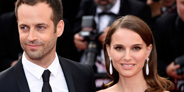 Actress Natalie Portman (R) and choreographer Benjamin Millepied. Photo / Getty
