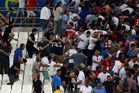 England and Russia fans clash after the UEFA EURO 2016 match between England and Russia. Photo/Getty Images