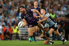 Jesse Bromwich was unable to help the Storm past the Sharks in last year's grand final. Photo / Getty