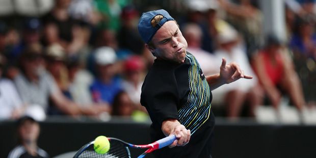 Finn Tearney in action during the ASB Classic. Photo / Getty Images