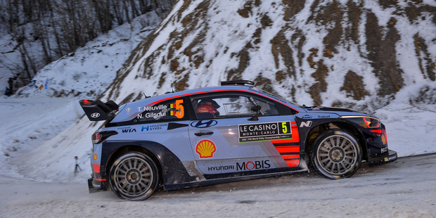 Thierry Neuville during WRC Monte Carlo. Photo / Getty Images