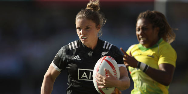 Michaela Blyde of New Zealand is in try-scoring form. Photo / Getty