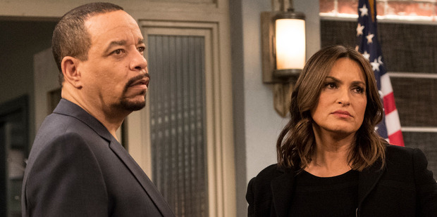 Ice-T as Detective Odafin Tutuola, Mariska Hargitay as Lieutenant Olivia Benson. Photo / Getty