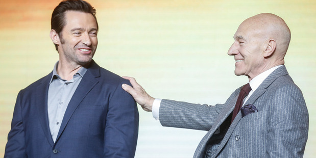 Australian actor Hugh Jackman English actor Patrick Stewart share a long history working together. Photo / Getty