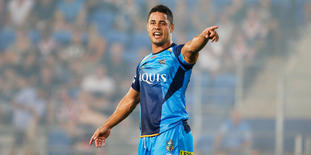 Jarryd Hayne of the Titans during the NRL match against Sydney Roosters. Photo/Getty Images