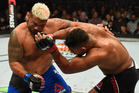 Kiwi heavyweight Mark Hunt was knocked out by Alistair Overeem at UFC 209. Photo / Getty