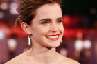 Emma Watson was left red-faced when Jimmy Kimmel played her an outtake from the first Harry Potter film that showed her mouthing along to lines that weren't hers. Photo/Getty