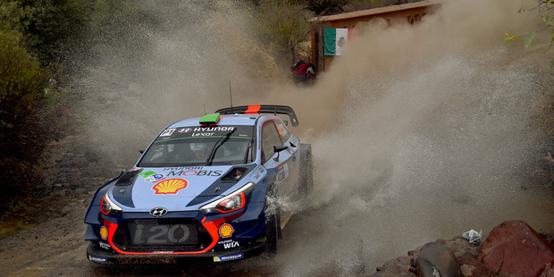 Hayden Paddon during the Shakedown of the WRC Mexico. Photo / Getty Images