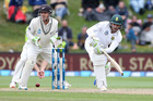 Dean Elgar led a sturdy resistance for South Africa before falling late on the fourth day. Photo / Getty