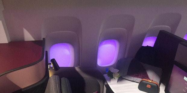 A window suite in Qatar Airways new Business Class cabin. Photo / Grant Bradley