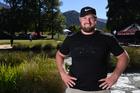 Olympic shot put athlete Tom Walsh poses during the 2017 New Zealand Golf Open. Photo / Andrew Cornaga