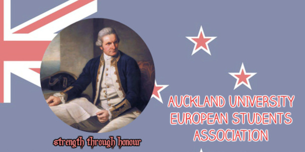 Loading An image that appeared on the Facebook page of the Auckland University European Students Association, but was removed on March 2. Photo / Facebook