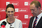 Newly elected Labour deputy-leader Jacinda Ardern and leader Andrew Little after their caucus vote at Parliament. Photo / Mark Mitchell