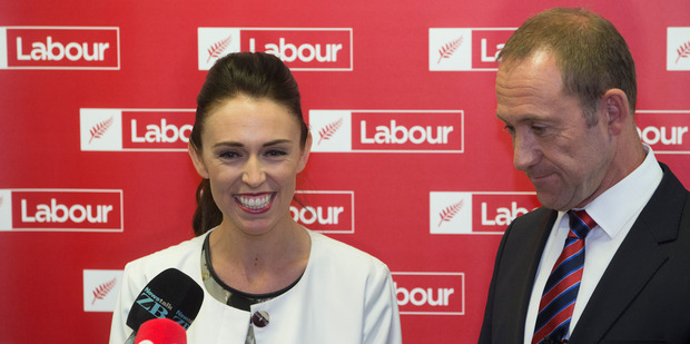Loading Newly elected Labour deputy-leader Jacinda Ardern and leader Andrew Little after their caucus vote at Parliament. Photo / Mark Mitchell