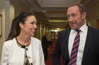 Newly elected Labour deputy-leader Jacinda Ardern and leader Andrew Little. PHOTO/Mark Mitchell