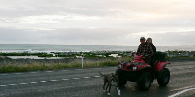 Barry Campbell and Wendy Campbell of Rakautara near Kaikoura. Photo / Supplied