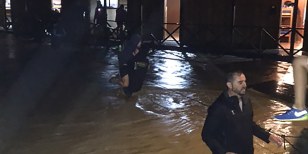 Flooding at Camp Adair in the Hunua Ranges south of Auckland. Photo / Supplied