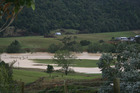 Camp Adair in the Hunua Ranges is under water after heavy rain brought flooding to the region. Photo / Gary Taylor