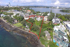 Aerial photo of Chris Dickson's two Takapuna properties on 3-5 Kitchener Rd Takapuna. Photo / Supplied by Bayleys