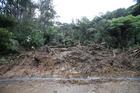 Heavy rain has cut off the township of Whiritoa on the Coromandel. Photo/John Borren