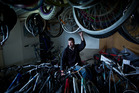 Andrew Gibson has worked hard repairing the bikes that were taken. Photo/Stephen Parker