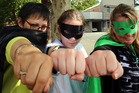 Whanganui Court staff have dressed up as their favourite caped crusaders to battle cancer in the Relay for Life today. Photograph by Stuart Munro
