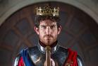 Chris Huntly-Turner as Henry V in Pop-up Globe's 2017 production of Henry V.