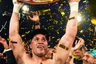 New Zealand heavyweight boxer Joseph Parker celebrates his win over Andy Ruiz Jr for the WBO World Heavyweight Title. Photo/Photosport