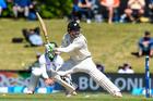 Henry Nicholls cuts while batting against Bangladesh earlier in the summer. Photo / photosport.nz