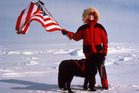 Kiwi explorer Helen Thayer and dog Charlie at the North Pole. Photo / Helen Thayer