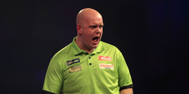 Dutch darts supremo Michael van Gerwen has a bad back right now - but he will be back for the Auckland Darts Masters in August. Photo / John Walton.
