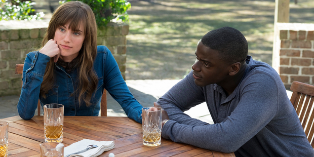 Allison Williams, left, and Daniel Kaluuya in a scene from, Get Out.