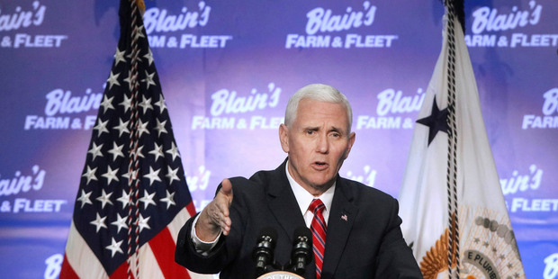 US Vice President Mike Pence. Photo / AP