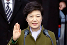 Park Geun-hye taking the oath during her inauguration ceremony in 2013. Photo / AP