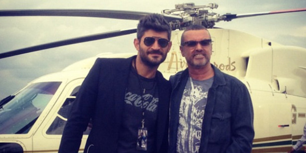Fadi Fawaz and George Michael in a photo from Fadi's Instagram account.