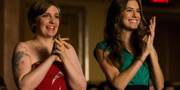 Lena Dunham and Allison Williams in Girls.