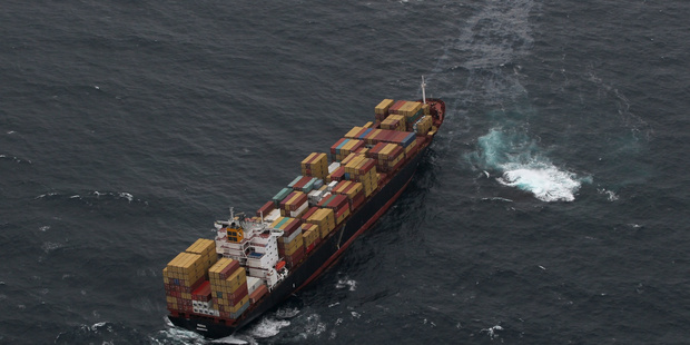 The Rena spilling oil soon after it went aground on Astrolabe Reef and broke up five years ago. Photo/file