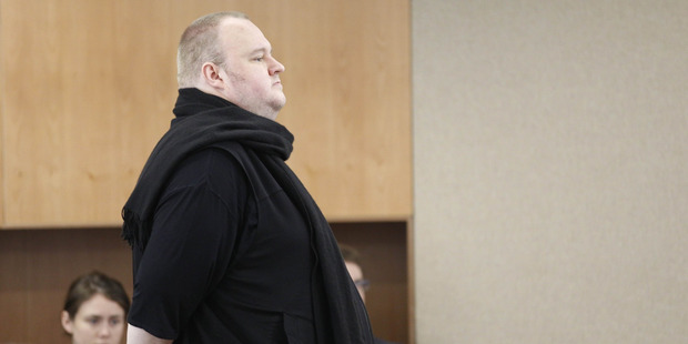 Kim Dotcom appearing in Auckland District Court in December 2015. Photo / Nick Reed