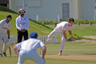 SEAM UP: Bay of Plenty pace bowler Tony Goodin in action. PHOTO: FILE