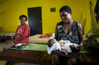 Daphne Norbert gave birth to a boy with Malaria. Photo / Mike Scott