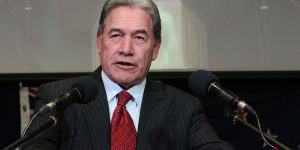 NZ First leader Winston Peters has slammed a TradeMe job advertisement requiring a fluent Chinese speaker. Photo / by Christine McKay, Hawke's Bay Today
