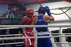 EXHIBITION TIME: Giants Saili Fiso (left) takes on Heretaunga's Ryan Scaife in an exhibition bout. Photo/Supplied