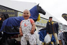 LITTLE FAN: Hunter Ryan, 14 months, from Ashburton, shows some joy at Horse of the Year. PHOTO PAUL TAYLOR
